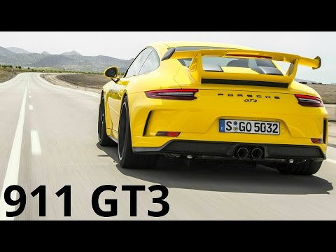 2018 Yellow Porsche 911 GT3 - 90-200 km/h Acceleration and 500 hp Engine Sound