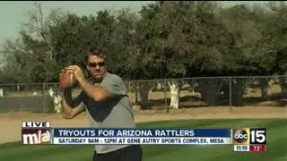 Tryouts for Arizona Rattlers