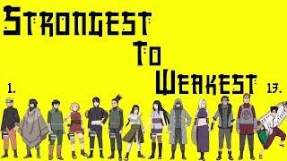Naruto - Ranking The Konoha 11 Weakest To Strongest