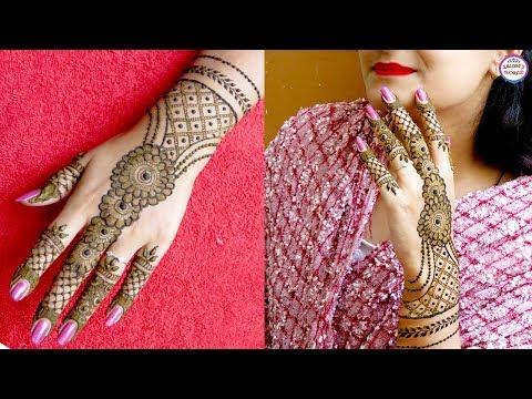 Ornamental Floral Back Hand Mehndi Designs by Jyoti Sachdeva.