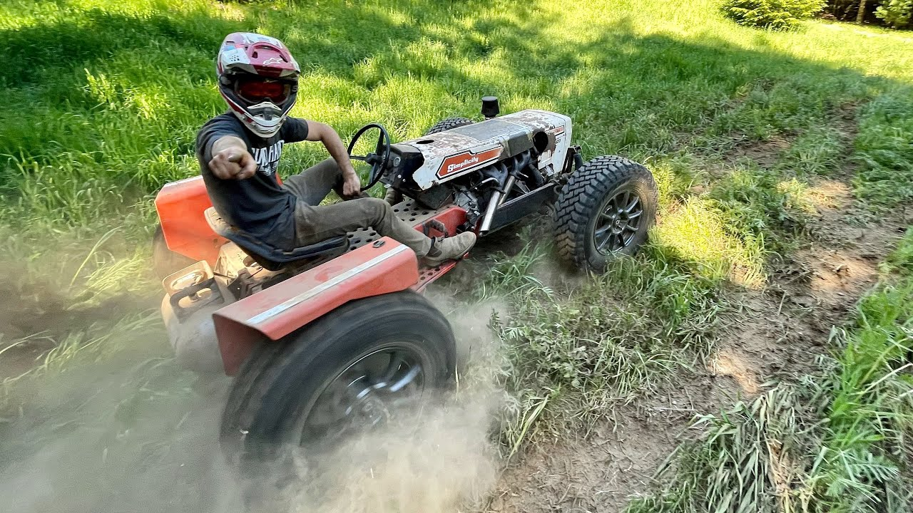 2JZ Lawn Mower Does Donuts! + Brakes and Suspension