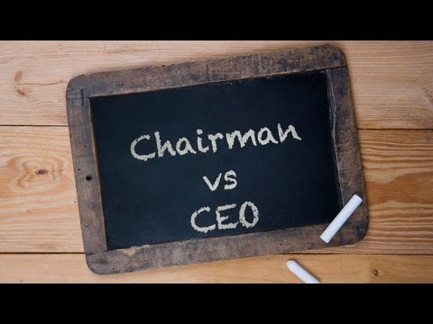 Ask Jay - Important Distinctions:  Chairman vs CEO