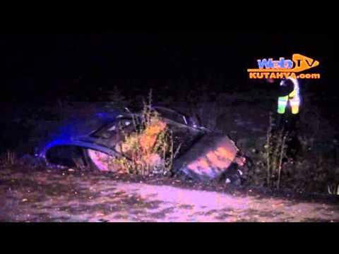 kütahyada kaza yapan sürücünün kafası koptu