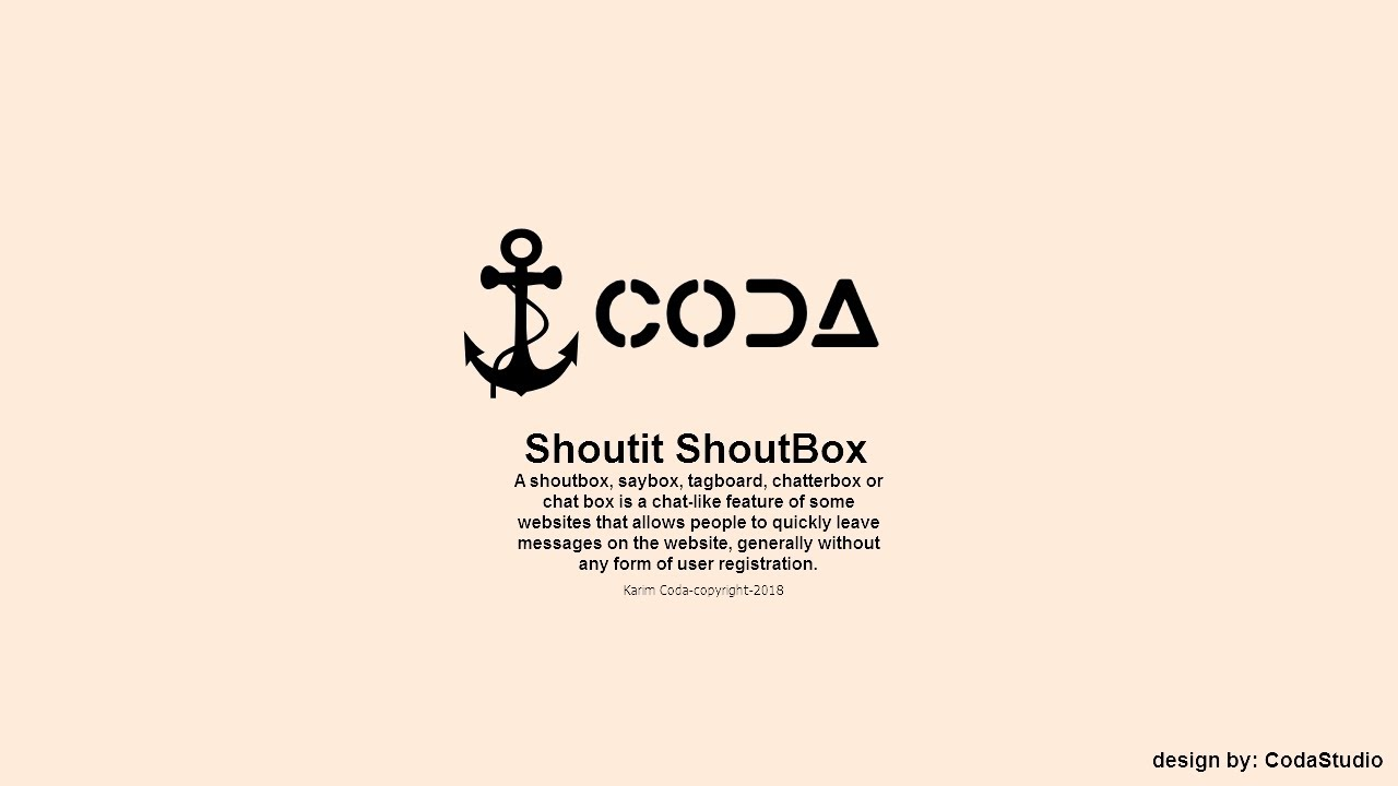 -Shoutit ShoutBox- Learn how to create a shoutit shoutbox in HTML, CSS, PHP  and MySQL-Karim Coda