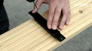 Montaż desek tarasowych z drewna w systemie niewidocznego montażu