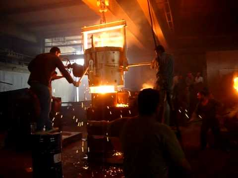bottom pouring steel casting