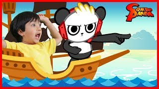 ROBLOX Epic Water Games Flood Escape Shark Bite Let's Play with Ryan + Combo Panda