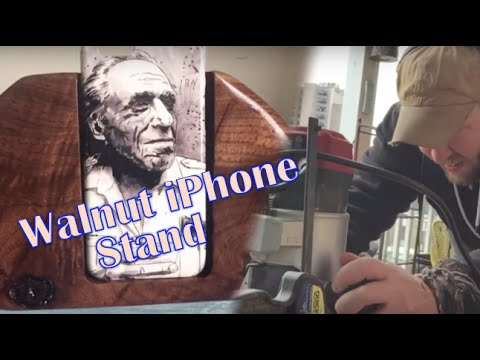 Reclaimed Walnut Wood iPhone Stand