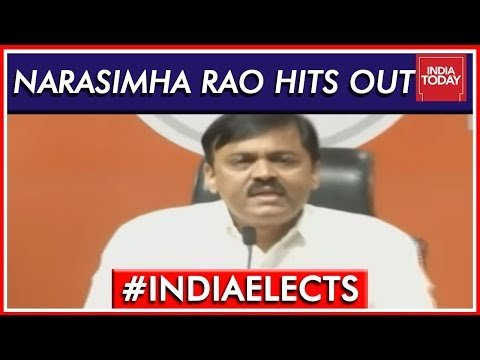 GVL Narasimha Rao Blames Congress For Shoe Attack | Lok Sabha Elections 2019