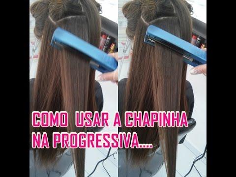 5034138b9 Progressiva!! como passar a chapinha para alisar o cabelo... - YouTube
