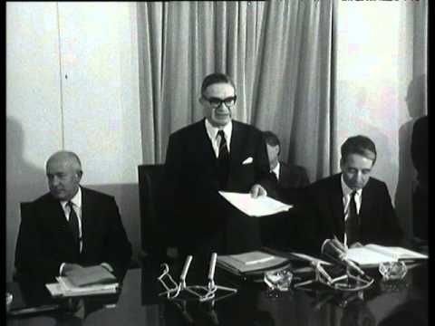 First meeting of the Single Commission under the Presidency of Jean Rey