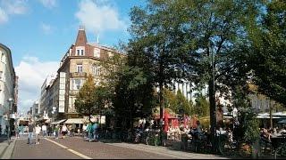 Karlsruhe City und Einkaufstraße im Oktober