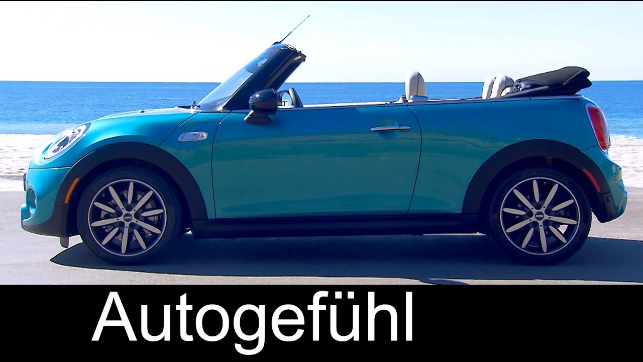 F57 Mini Cooper Convertible >> All-new Mini Cooper S Convertible Cabriolet Exterior/Interior sound preview 2017 - YouTube