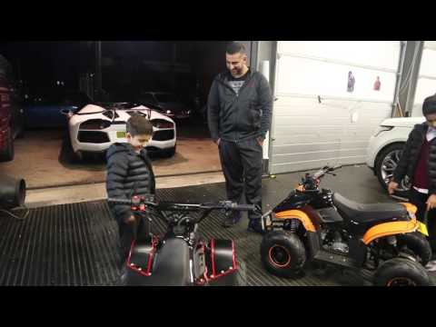 Yianni wraps his kids Quad Bikes!