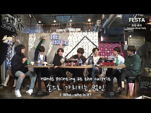 [ENG] 180612 BTS (방탄소년단) 'Bangtan Dinner Party' #2018BTSFESTA