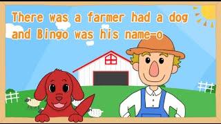 歌付き英語童謡「BINGO(ビンゴ)」です。 牧場の楽しい歌です。NHK「英...