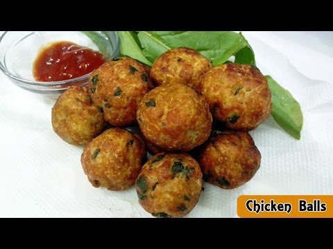 Chicken Balls Recipe || Home Made Chicken Balls || Deep Fried Chicken Balls