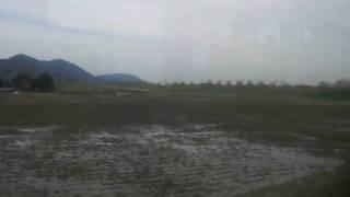 【車窓】越後線新潟行 信濃川(大河津分水路)通過