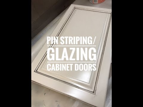 Glazingpinstriping Cabinet Doors Youtube