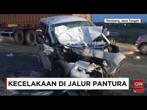 Maut di Pantura, Supir Mengantuk, Mobil Tabrak Truk dari Arah Berlawanan, Dua Orang Tewas Mp3