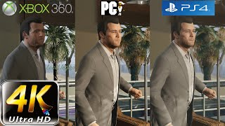 GTA 5 Graphic Comparison | PC (4k) vs PS4 vs XBOX 360 Shootout
