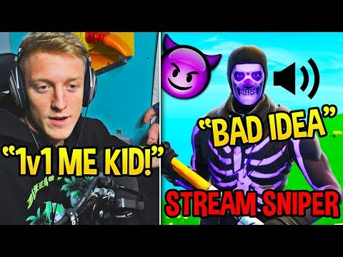 Tfue *REGRETS* 1v1ing This STREAM SNIPER after getting DESTROYED!