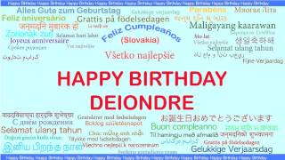Deiondre   Languages Idiomas - Happy Birthday