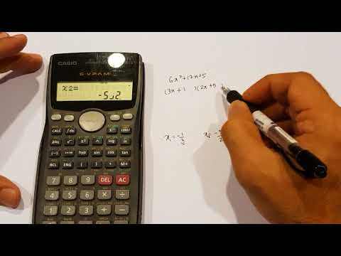 Factorizing Using Casio 570MS Calculator