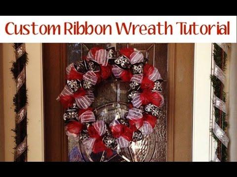 Ribbon Wreath Tutorial Youtube
