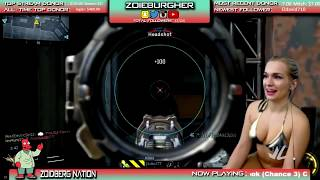 Banned Streamer Zoie Burgher Strips For Cam!!😱