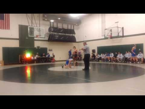 Antonio second match vs Connellsville at the Central Dauphin middle school tournament.  He won 4-3