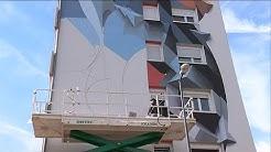 Alsace : Une fresque de street art à Guebwiller (Haut-Rhin)