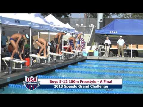 Boys 512 100m Freestyle A Final - 2013 NOVAquatics Speedo Grand Challenge