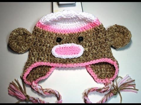 How To Crochet A Sock Monkey Beanie Video 1 Youtube