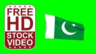 FREE HD video backgrounds – Pakistan flag waving on green screen 3D animation