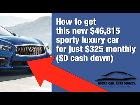 How to get a $46,815 INFINITI Q50 Premium for just $325 monthly - $0 cash down (video)