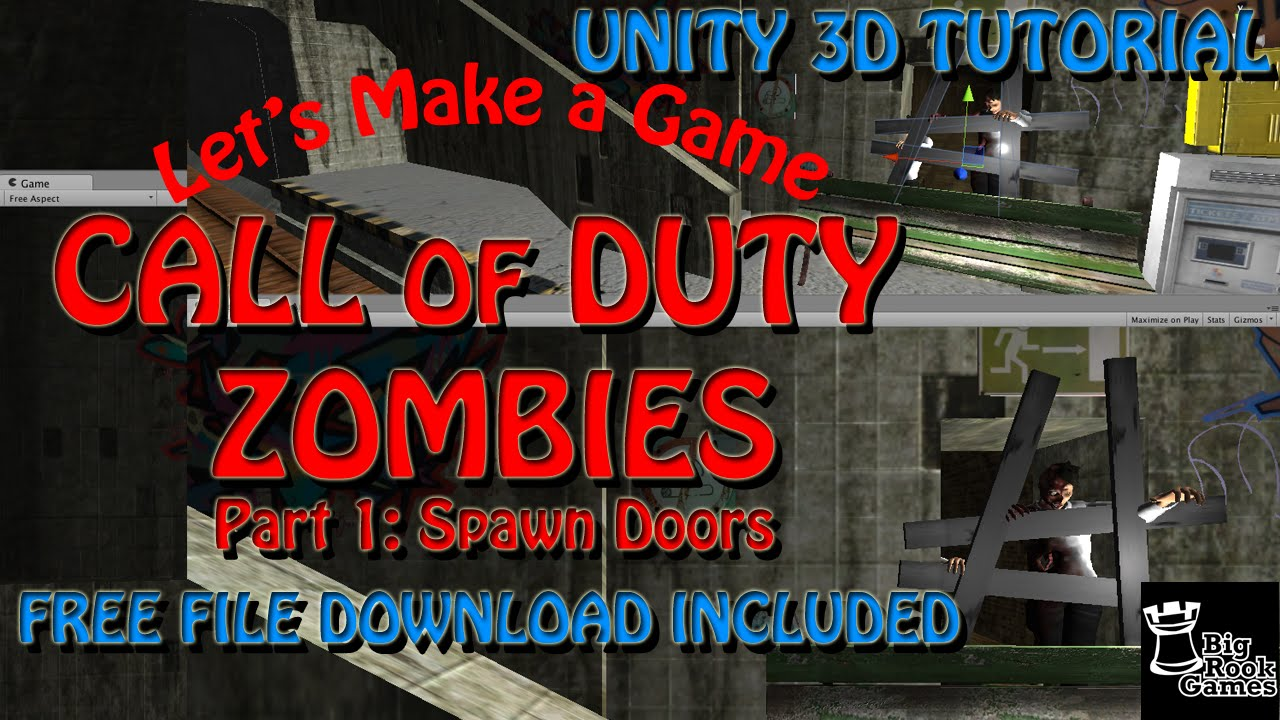 Let\u0027s Make Call of Duty Zombies in Unity 3D Tutorial Part 1 Spawn Door Boards WITH FREE ASSETS & Let\u0027s Make Call of Duty Zombies in Unity 3D Tutorial: Part 1 Spawn ...