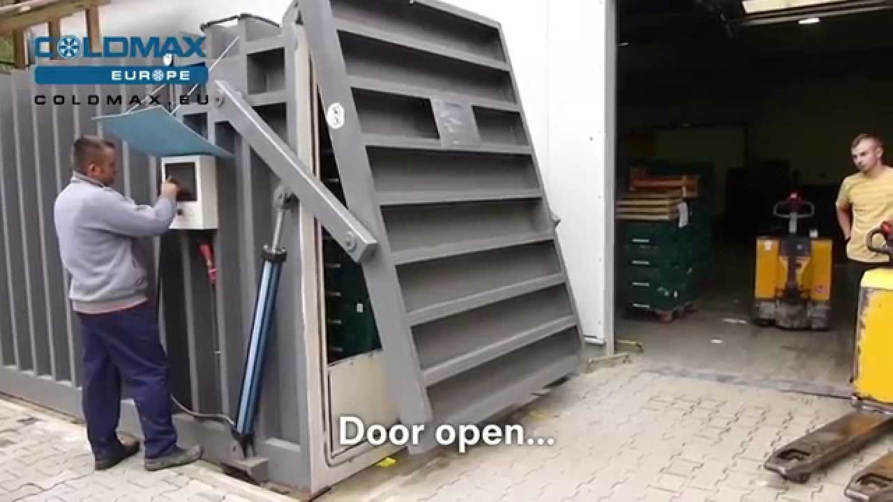 Coldmax Europe 4 Pallet System With Hydraulic Door Youtube