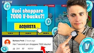 HAI 7 SECOND for SHOPPARE 7000 V-BUCKS on FORTNITE!! 7 Seconds CHALLENGE