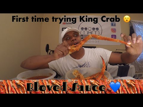 First time trying King Crab!!! | Mukbang!!! | Attempting Bloves sauce | MAM EATING SHOW