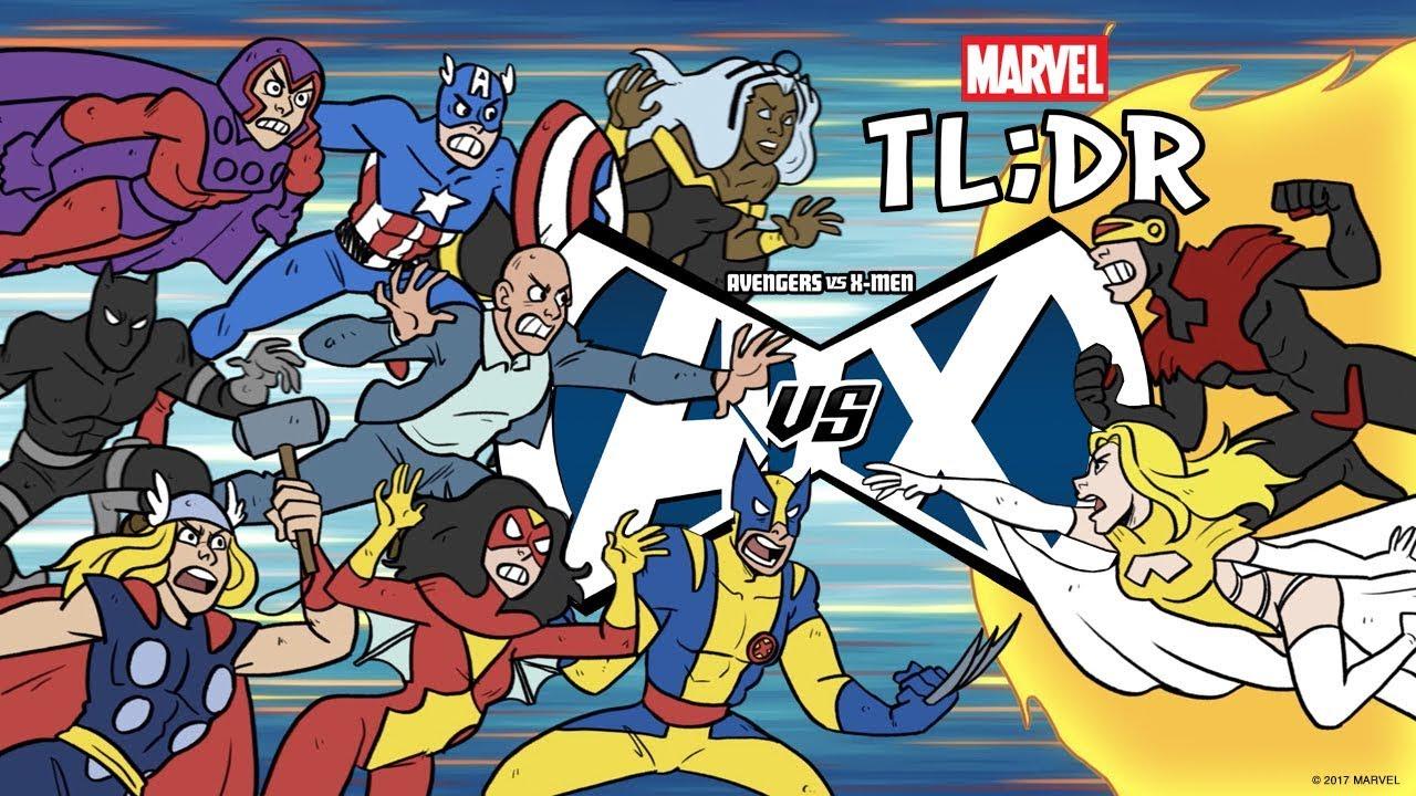 Cute Little Girl Cartoon Wallpaper Avengers Vs X Men In 2 Minutes Marvel Tl Dr Youtube