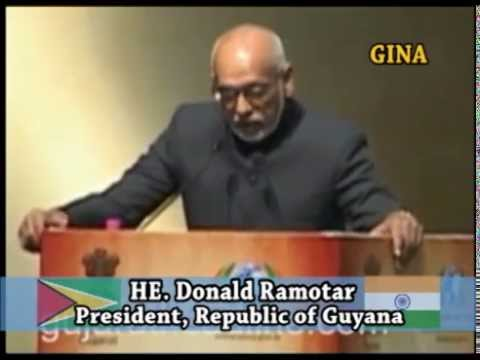 President Donald Ramotar State Visit to India, January 18, 2015