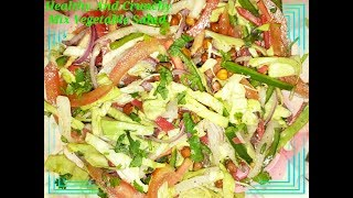 Healthy And Crunchy Mix Vegetable Salad