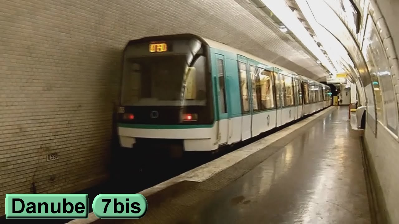 Métro de Paris : Danube | Ligne 7 bis ( RATP MF88 ) - YouTube