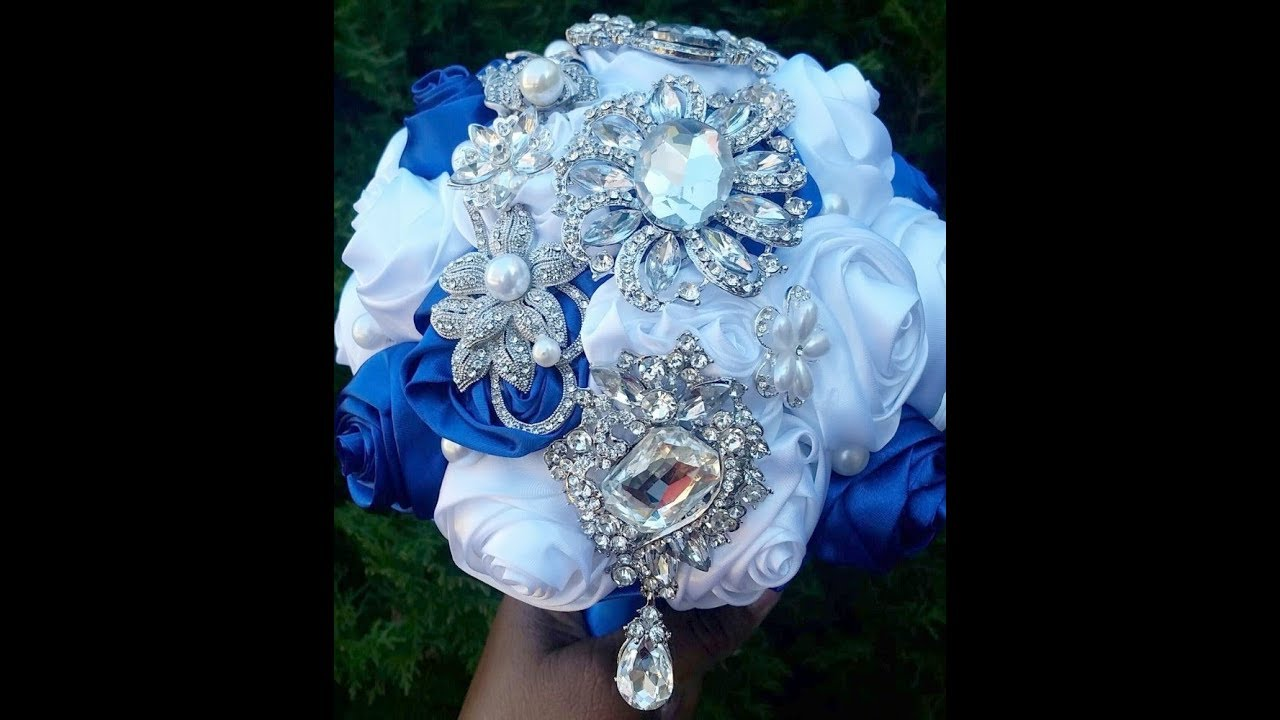 Diy How To Make Brooch Bridal Bouquet Fabric Flowers No Wires Easy