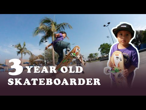 3 Year Old Skateboarder