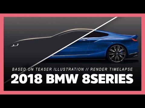 2018 BMW 8Series and M8 based on teaser illustration (photoshop render timelapse preview)