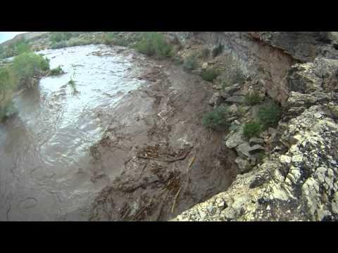 Flash Flood on film. Zion National Park through Virgin Utah.