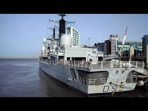 HMS Manchester on Liverpool Waterfront part 1