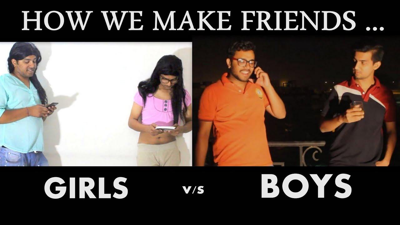 HOW WE MAKE FRIENDS (Girls V/s Boys) | Aashqeen